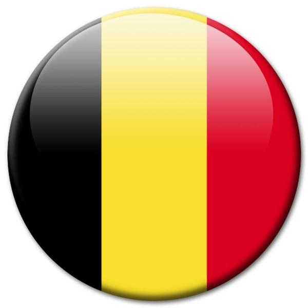 Flagge Belgien, Magnet 5 cm
