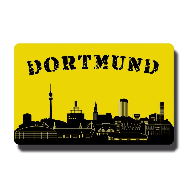 Dortmund Skyline, Magnet 8,5x5,5 cm