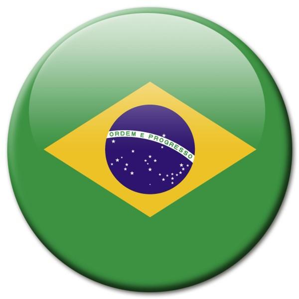 Flagge Brasilien, Magnet 5 cm