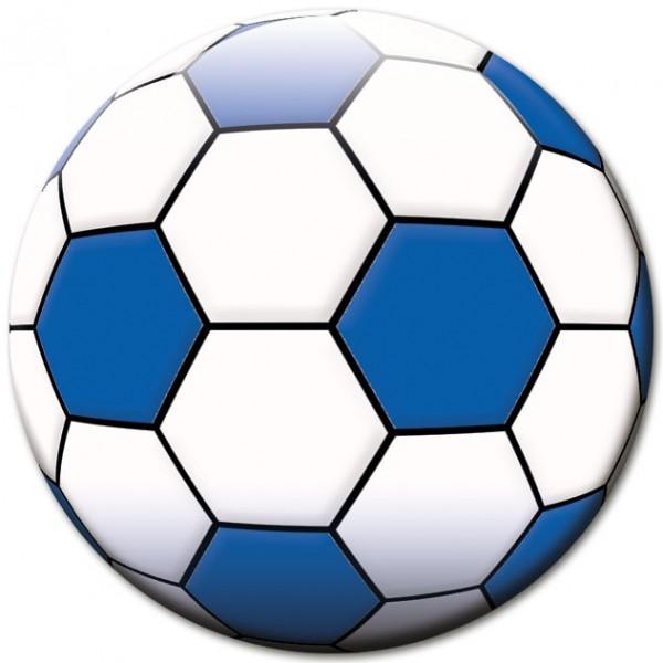 Magnet Fußball Blau-Weiß - Ø 5 cm