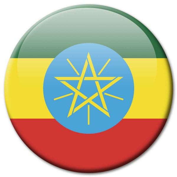 Flagge Äthiopien, Magnet 5 cm
