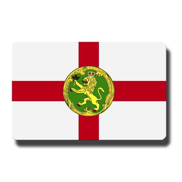Flagge Alderney, Magnet 8,5x5,5 cm