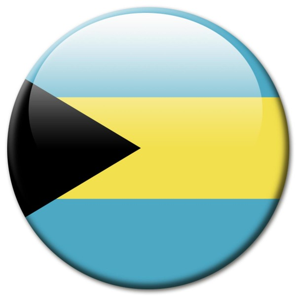 Flagge Bahamas, Magnet 5 cm