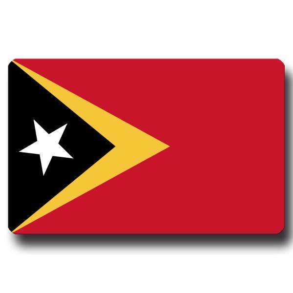 Flagge Osttimor, Magnet 8,5x5,5 cm