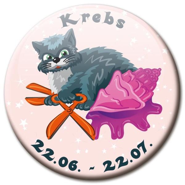 Magnet Katze - Sternzeichen Krebs - Ø 5 cm