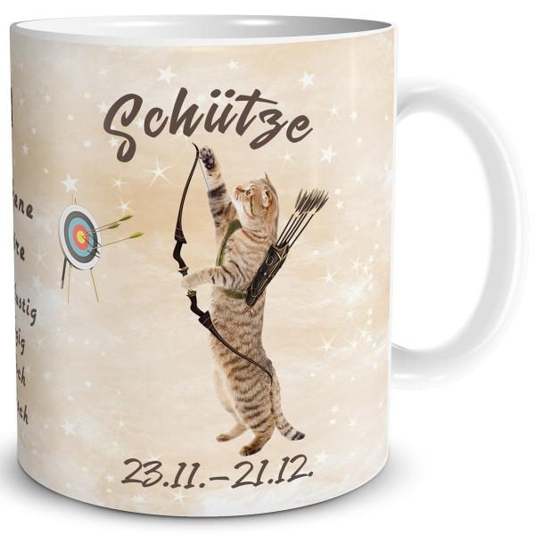 Sternzeichen Schütze Katze, Tasse 300 ml