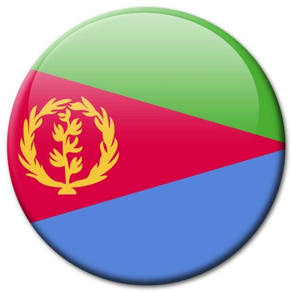 Flagge Eritrea, Magnet 5 cm