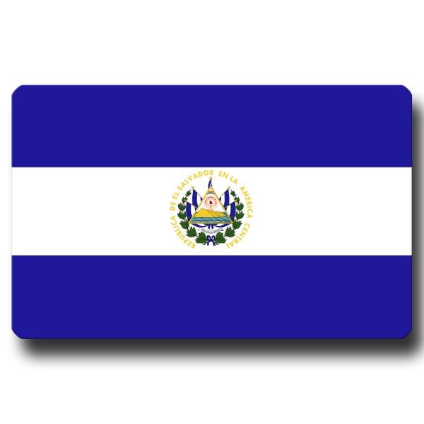 Flagge El Salvador, Magnet 8,5x5,5 cm