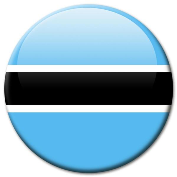 Flagge Botswana, Magnet 5 cm