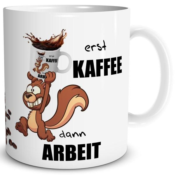 Eichhörnchen Kaffee Arbeit, Tasse 300 ml