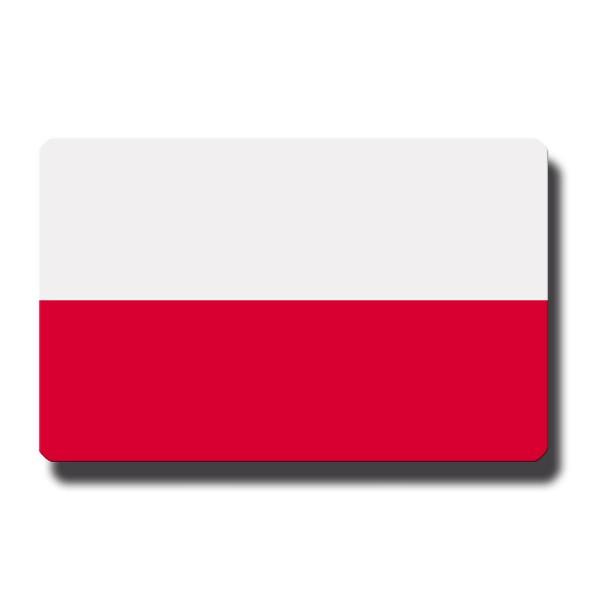 Flagge Polen, Magnet 8,5x5,5 cm