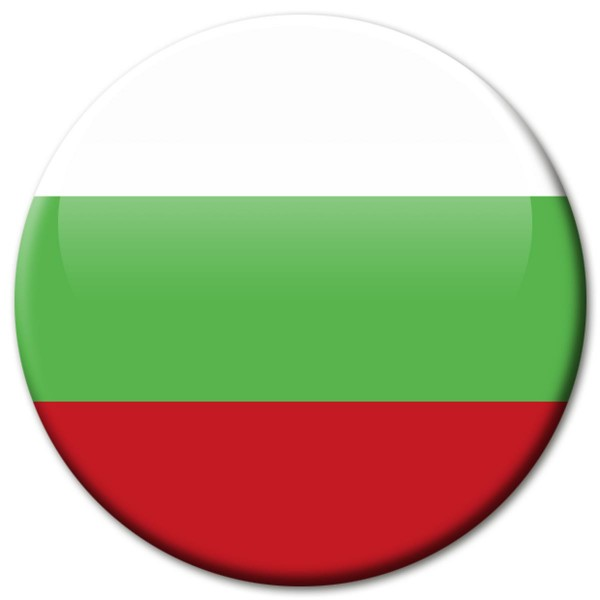 Flagge Bulgarien, Magnet 5 cm