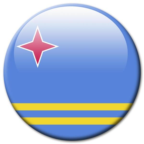 Flagge Aruba, Magnet 5 cm