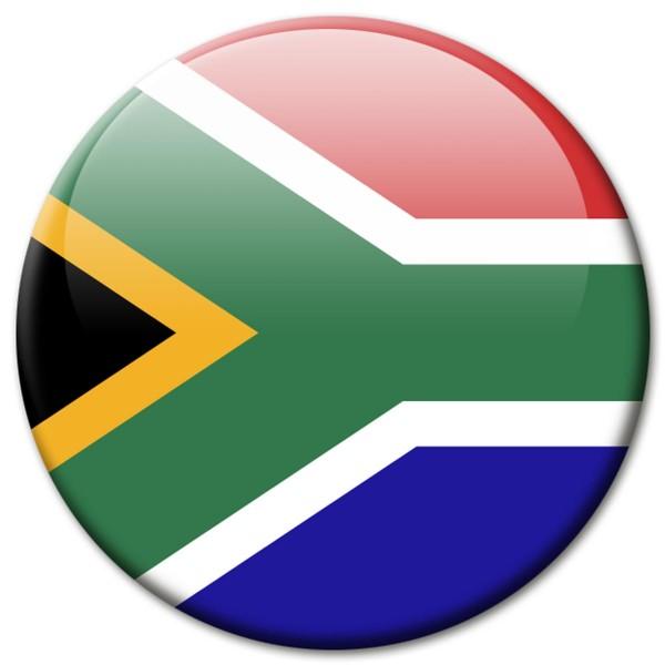 Flagge Südafrika, Magnet 5 cm
