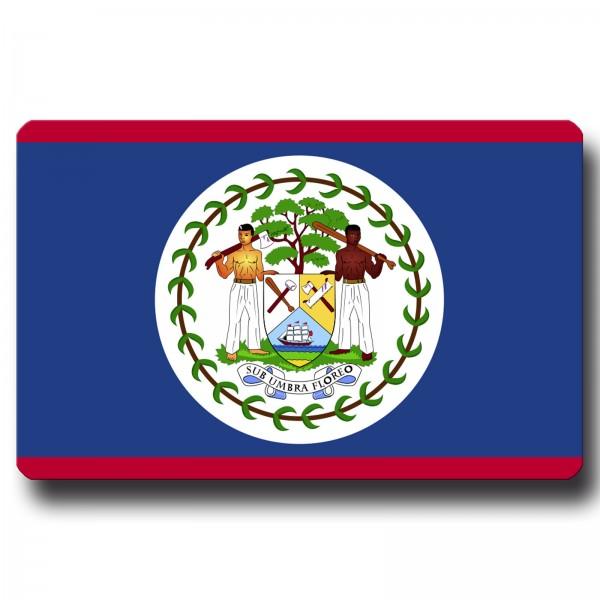 Flagge Belize, Magnet 8,5x5,5 cm