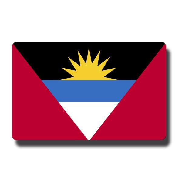 Flagge Antigua & Barbuda, Magnet 8,5x5,5 cm