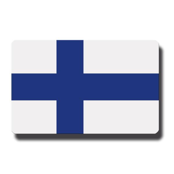 Flagge Finnland, Magnet 8,5x5,5 cm