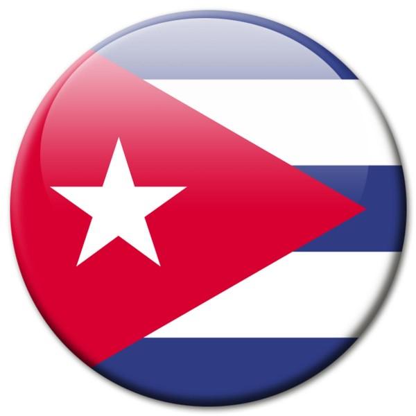 Flagge Kuba, Magnet 5 cm