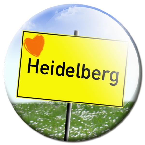 Magnet Ortsschild I love Heidelberg - Ø 5 cm