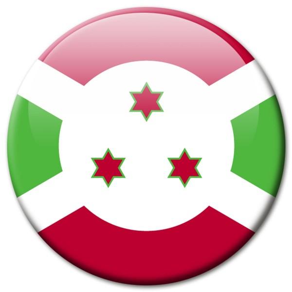 Flagge Burundi, Magnet 5 cm