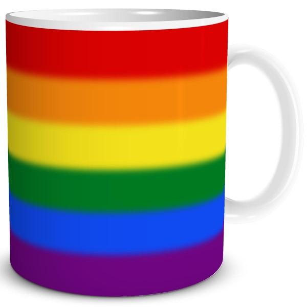 Regenbogen Flagge LGBT, Tasse 300 ml