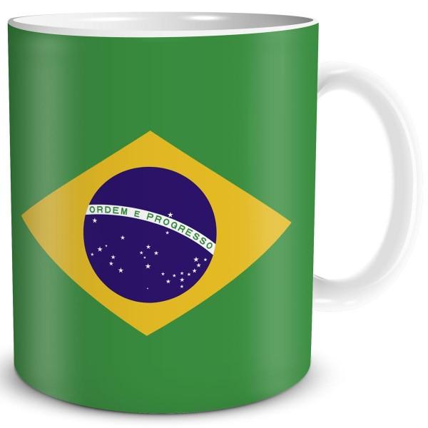 Flagge Brasilien, Tasse 300 ml