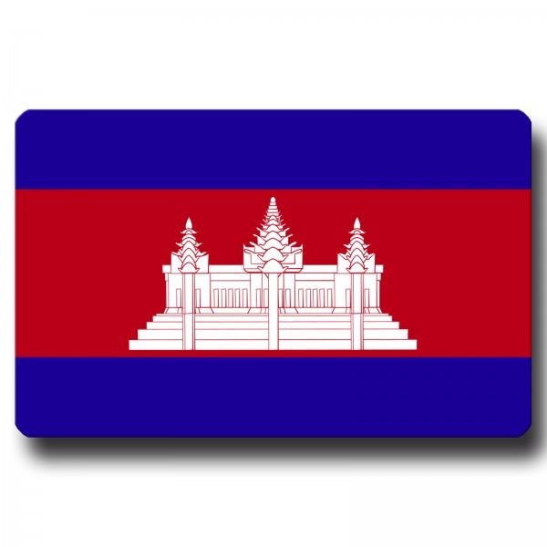 Flagge Kambodscha, Magnet 8,5x5,5 cm