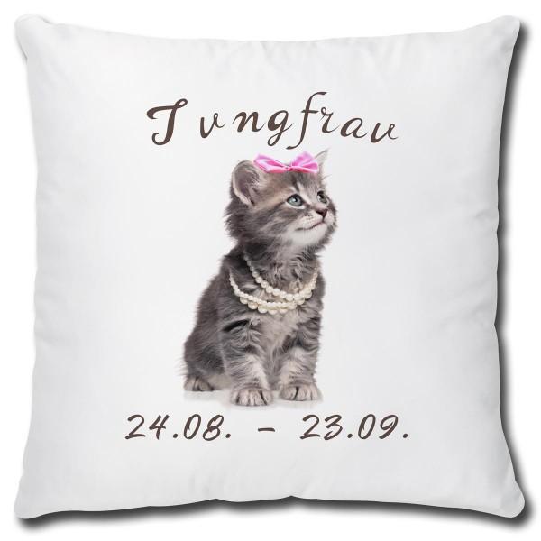 Sternzeichen Jungfrau Katze, Kissen 40x40 cm