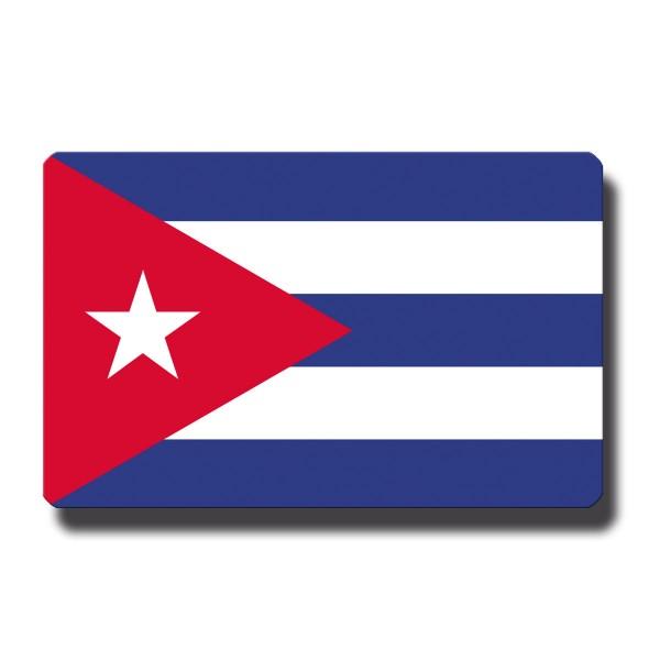 Flagge Kuba, Magnet 8,5x5,5 cm