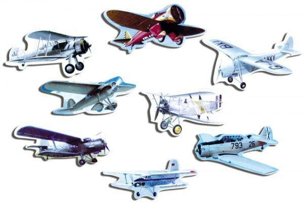 Magnete 8er-Set Historische Flugzeuge