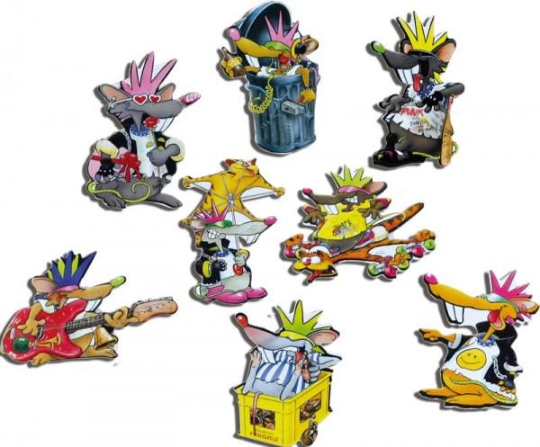 Magnete 8er-Set Punkies
