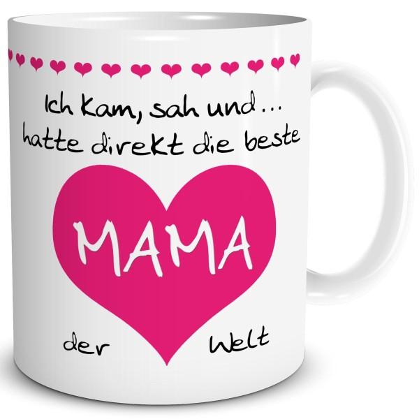 """Mama Herz """"Beste der Welt"""" Pink, Tasse 300 ml"""