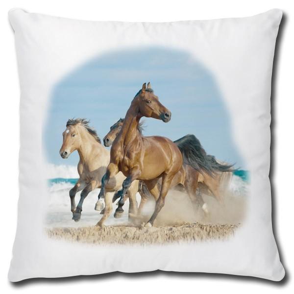 Pferde am Meer, Kissen 40x40 cm