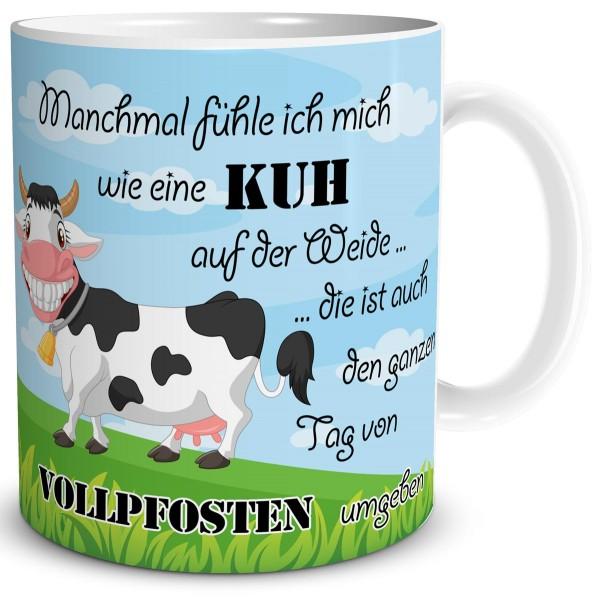 Kuh Vollpfosten, Tasse 300 ml