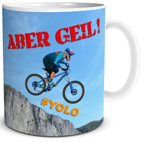 Biker Leben Downhill, Tasse 300 ml