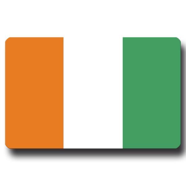 Flagge Elfenbeinküste, Magnet 8,5x5,5 cm