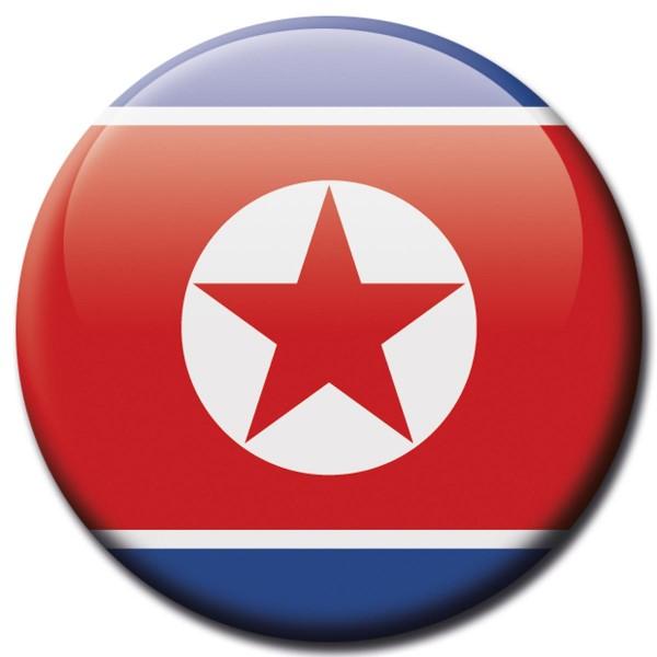 Flagge Korea Nord, Magnet 5 cm