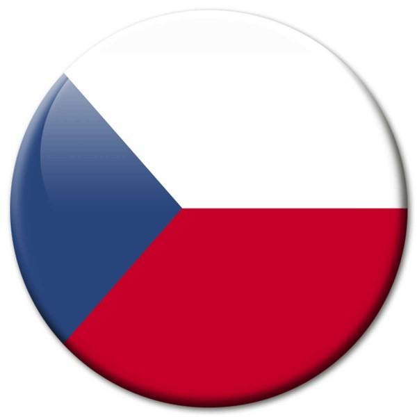 Flagge Tschechien, Magnet 5 cm