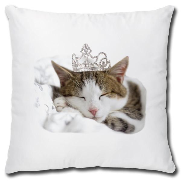 Katze Sleeping Princess, Kissen 40x40 cm
