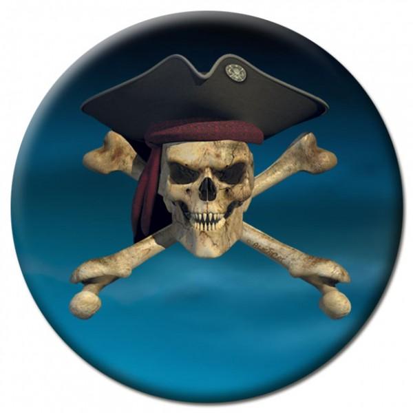 Magnet Totenkopf Pirat - Ø 5 cm
