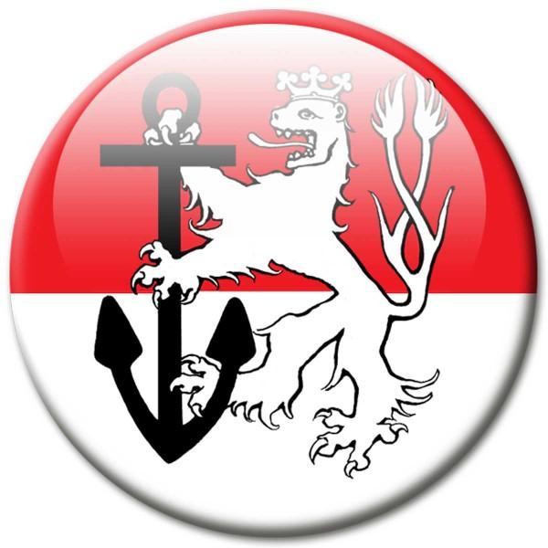 Fan Magnet Stadt Düsseldorf Wappen - Ø 5 cm
