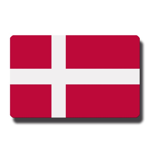 Flagge Dänemark, Magnet 8,5x5,5 cm