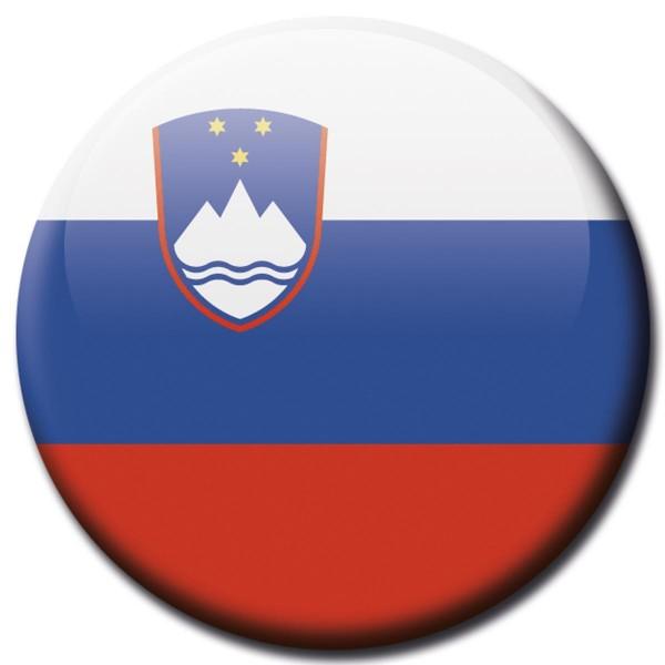Flagge Slowenien, Magnet 5 cm