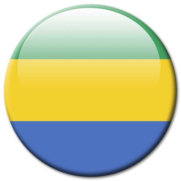 Flagge Gabun, Magnet 5 cm