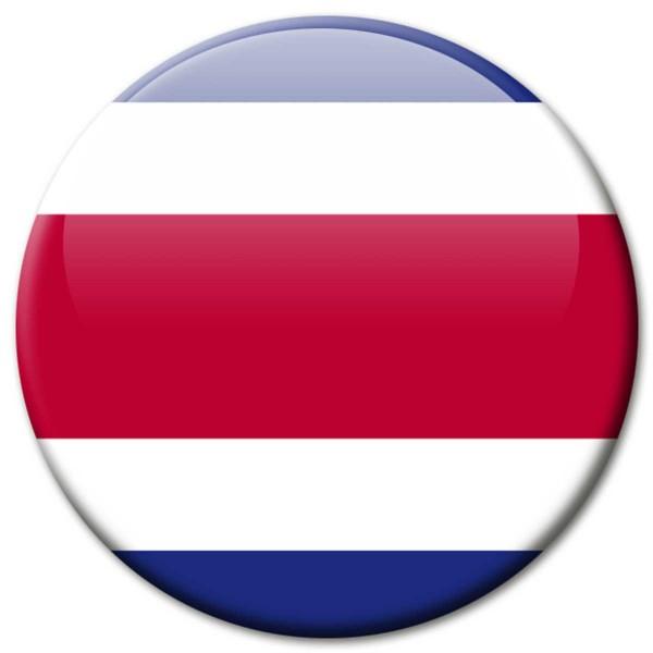 Flagge Costa Rica, Magnet 5 cm