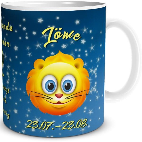 Sternzeichen Löwe Smiley, Tasse 300 ml