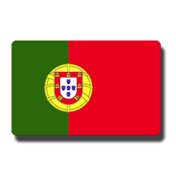 Flagge Portugal, Magnet 8,5x5,5 cm