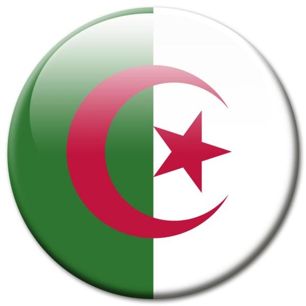 Flagge Algerien, Magnet 5 cm