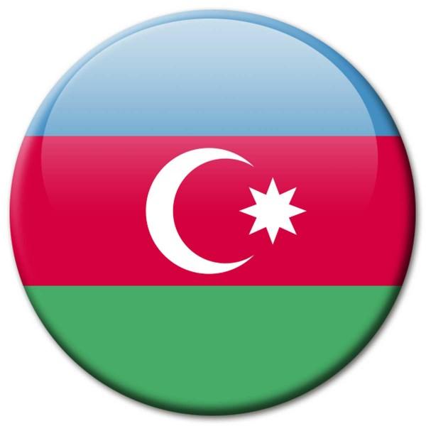 Flagge Aserbaidschan, Magnet 5 cm