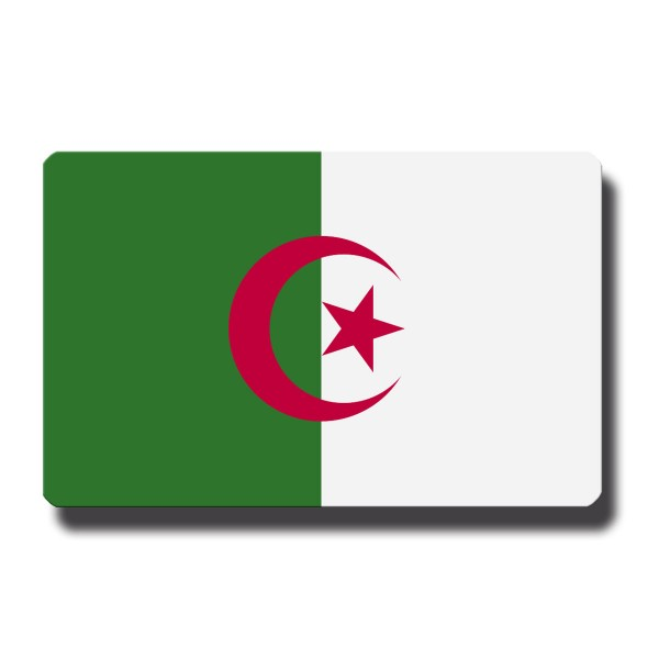 Flagge Algerien, Magnet 8,5x5,5 cm